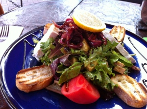 Healthy Lunch at Caffe Martier, Delray Beach