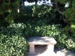 Meditation Bench in Self-Realization Garden