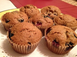 Blueberry Muffins - fresh and hot from the oven